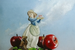 Apples with Figurine